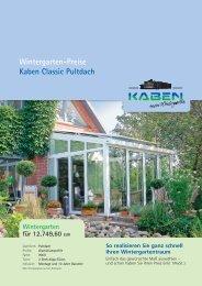 Wintergarten-Preise Kaben Classic Pultdach - Kaben - mein ...