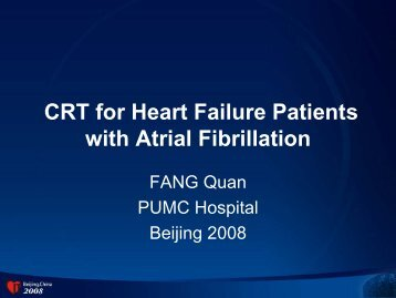 CRT for Heart Failure Patients with Atrial Fibrillation