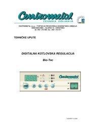 DIGITALNA KOTLOVSKA REGULACIJA Bio-Tec - Centrometal