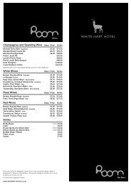 Champagnes and Sparkling Wine White Wines ... - White Hart Hotel