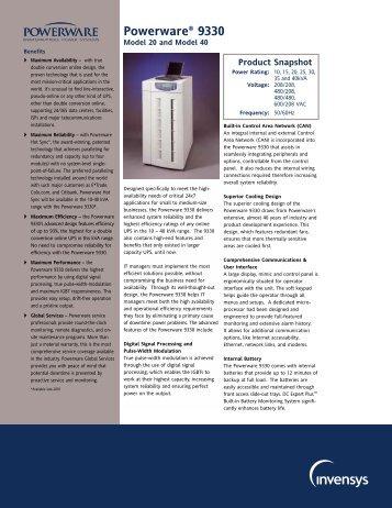 Powerware® 9330