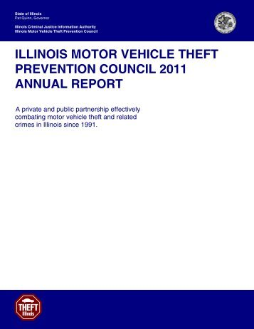 Illinois Motor Vehicle Theft Prevention Council 2011 Annual Report