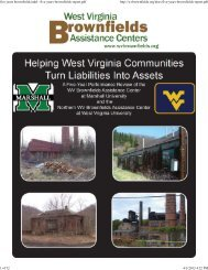 2009 Five-Year Performance Review of the WV Brownfields ...