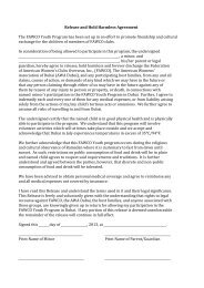 Release and Hold Harmless Agreement The FAWCO Youth ...
