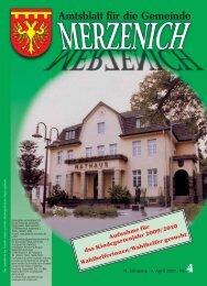 Nr. 04/2009, erschienen am 03.04.2009 - Gemeinde Merzenich