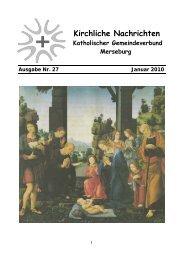 Ausgabe Nr. 27, Januar 2010 - Katholische Pfarrei St. Norbert ...