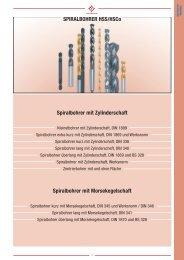 SPIRALBOHRER HSS/HSCo Spiralbohrer mit ... - Mohr GmbH