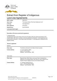 Register Extract - National Native Title Tribunal