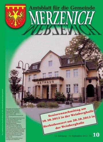 Ende amtlicher Teil - Gemeinde Merzenich