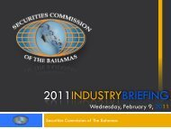 Investment Funds - Securities Commission of the Bahamas