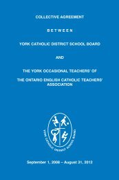 YOTL CA - the York Catholic District School Board