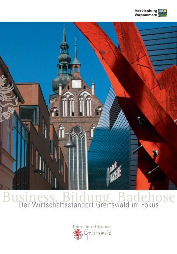 Business, Bildung, Badehose - Hansestadt Greifswald