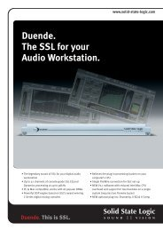 Duende. The SSL for your Audio Workstation. - Solid State Logic