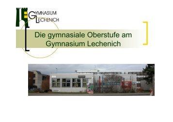 Die gymnasiale Oberstufe am Gymnasium Lechenich