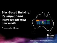 Bias-based bullying: impacts with the new media