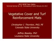 Vegetative Cover and Turf Reinforcement Mats - Association of State ...