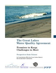 The Great Lakes Water Quality Agreement: Promises to ... - Precaution
