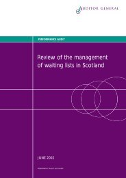 Review of the management of waiting lists in Scotland - Audit Scotland