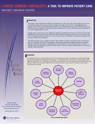 checklist backgrounder - BC Cancer Agency