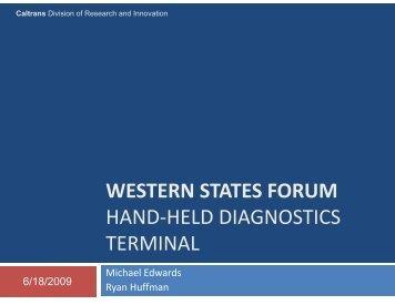 Caltrans - Western States Forum