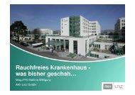 Rauchfreies Krankenhaus - was bisher geschah… - ONGKG