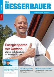 Energiesparen mit Gewinn - HASIT Trockenmörtel GmbH