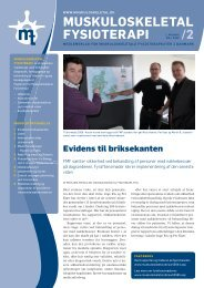 Muskuloskeletal Fysioterapi 2008 - 2 (pdf) - Fagforum for ...