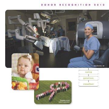 donorrecognition 2 0 1 0 - Gundersen Lutheran Health System