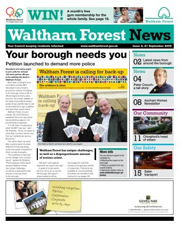 21 September: Your borough needs you - Waltham Forest Council