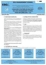 ESG MANAGEMENT SCHOOL - L'Etudiant