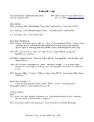 Richard E. Ocejo - John Jay College Of Criminal Justice - CUNY