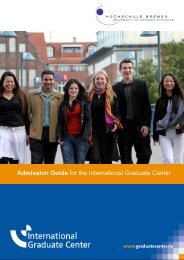 Admission Guide for the International Graduate Center