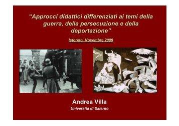"""""""Approcci didattici differenziati ai temi della guerra, della ..."""