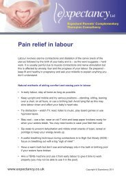 Pain relief in labour - Expectancy