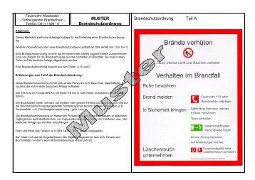 muster brandschutzordnung feuerwehr erfurt - Brandschutzordnung Muster