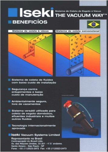 THE vAcuuM wA TM BEN EFlcíos É: - centroprojekt brasil