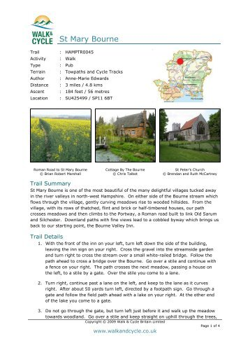 St Mary Bourne - Walk and Cycle Britain