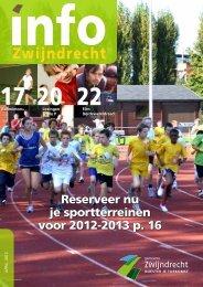 Reserveer nu je sportterreinen voor 2012-2013 p. 16 - Gemeente ...