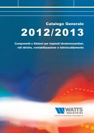 Catalogo Generale - Watts Industries