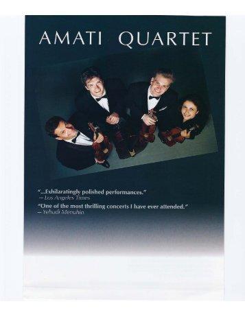 Amati Quartet - Shupp Artists