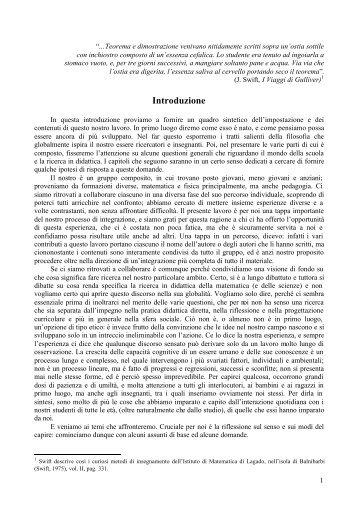Tortora Introduzione - Seminario Nazionale di Ricerca in Didattica ...