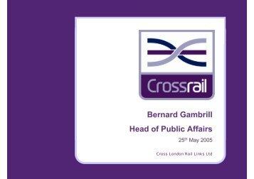 Crossrail Statistics - British Retail Consortium