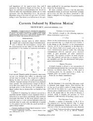 Currents Induced by Electron Motion* - LArTPC DocDB