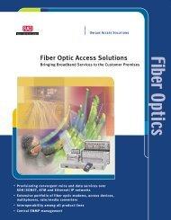 Fiber Optic Access Solutions - WIT