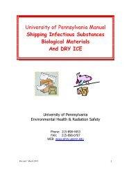 University of Pennsylvania Manual Shipping Infectious Substances ...