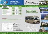 Vermietung - Evasion en Camping-car