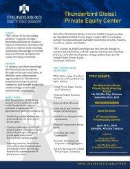 TPEC EVENTS… - Thunderbird School of Global Management