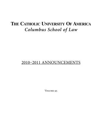 Announcements - Columbus School of Law