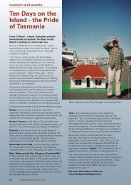 Tourism and Events - Local Government Association of Tasmania