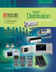 Agilent Product Guide - Electro Rent Corporation